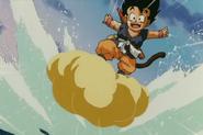Goku Surfs While Riding Nimbus