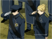 Roy Mustang & Riza Hawkeye Attending the Funeral of Maes Hughes