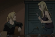 Winry Telling Ed About His Brother's Plans