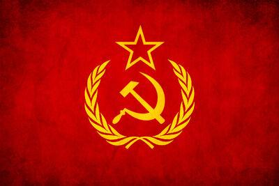 Soviet Union USSR Grunge Flag by think0
