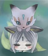 PIpe Fox Fanart by skiff竹君 本体是脑门