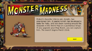Monster Madness Notification