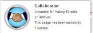 Collaborator (earned hover)