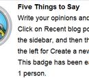 Vijf dingen te zeggen