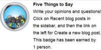 Cinque cose da dire