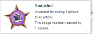 Snapshot (earned hover)