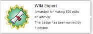 Wiki Expert (earned hover)