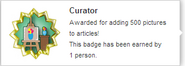 Curator (earned hover)