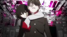 Ougi wraps around Koyomi