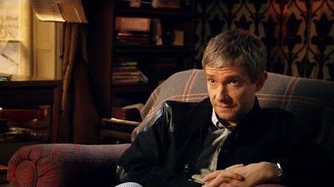 Martin Freeman & Amanda Abbington discuss working together - Sherlock- Series 3 Episode 2 - BBC One