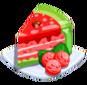 Oven-Watermelon Cake plate