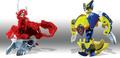 Titanium Dragonoid vs Wolverine