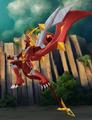 Attacking Titanium drago