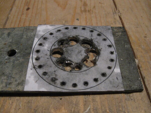 Making washer rim drilling template - 03