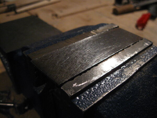 Making the metal hoop for the arm - 05