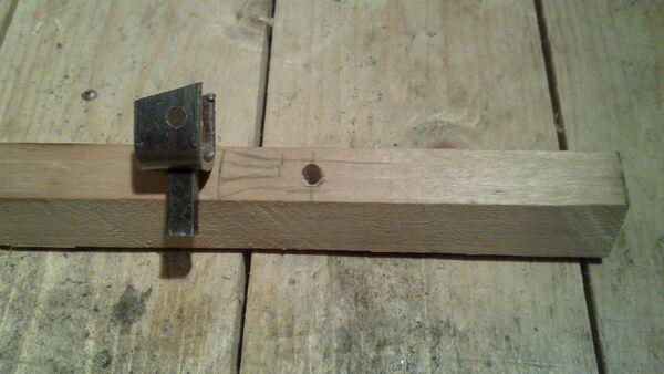 Attaching cheiroballistra fork and tenon to the slider - 01