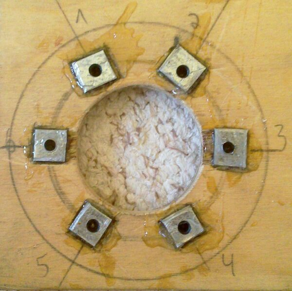 Making washer rim hole template - 17