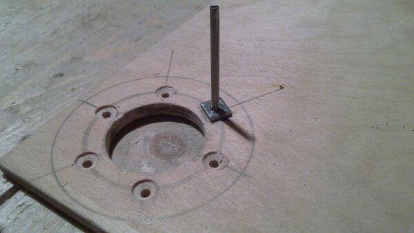 Making washer rim hole template - 11