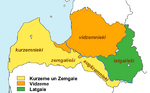 Latvian regions and latvians cultural zones