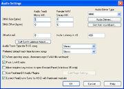 Audio Settings Dlg
