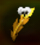 Gold feather icon