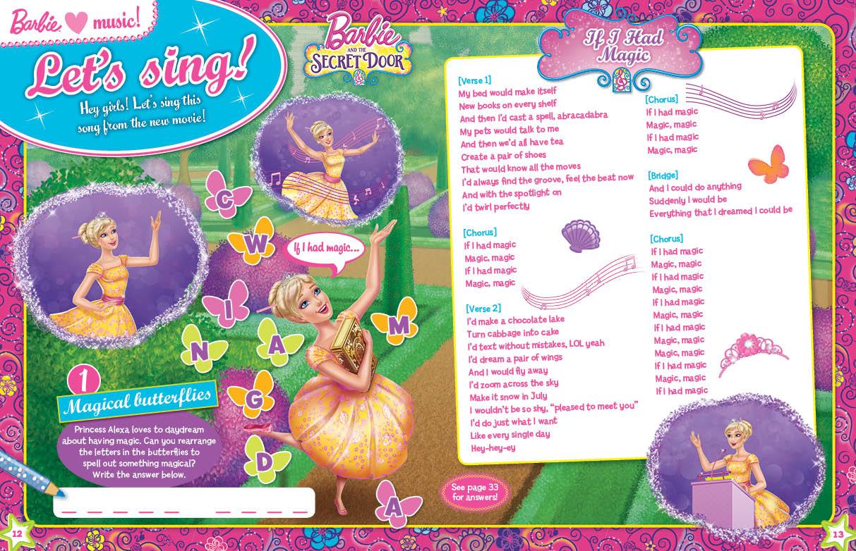 Image - SecretDoorMagazine-2.jpg | Barbie Movies Wiki | FANDOM powered by Wikia  sc 1 st  Pezcame.Com & Magic Door Movie u0026 This Song Is Performed By Princess Alexa. This ... pezcame.com