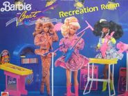Barbie and the beat recreation room
