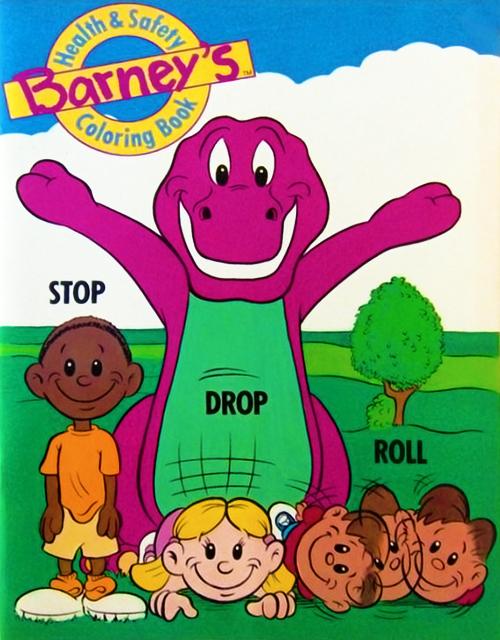 Barneys Health Safety Coloring Book Barney Wiki FANDOM