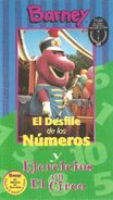 Barney's Excercise Circus & Parade of Numbers Spanish VHS Cover