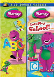 Barney Now I Know My ABC's & Let's Play School DVD Cover