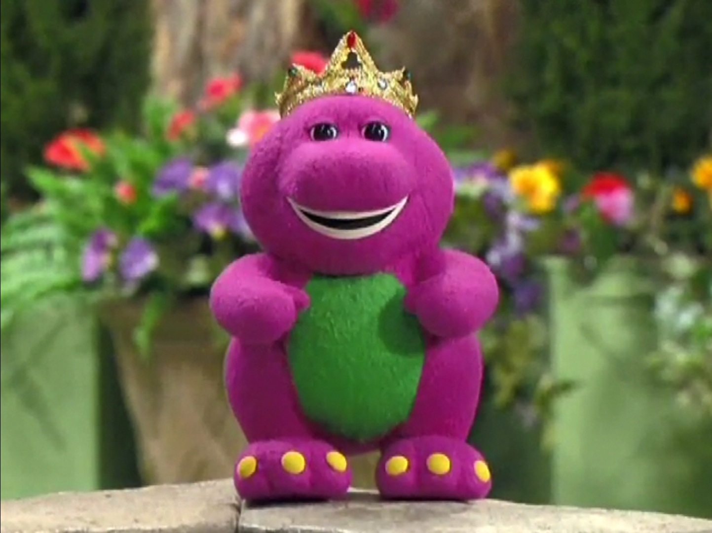 image barneydoll king singing jpg barney wiki fandom powered