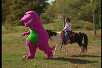 Clip, Clop Riding on a Pony