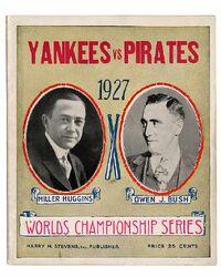 1927 World Series Program