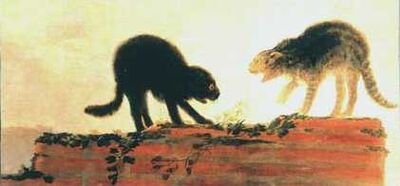 Goya cat fight-1-