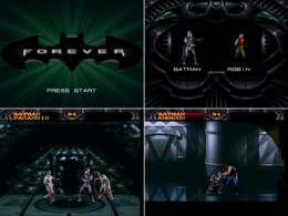 Batman Forever Gameplay screen (SNES)