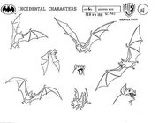 Assorted Bats Model Sheet