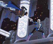 Batman vs Freeze Litograph