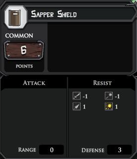 Sapper Shield profile
