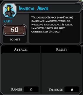 Immortal Armor profile