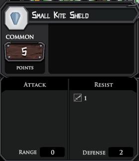 Small Kite Shield profile