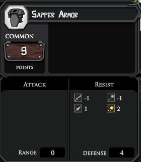 Sapper Armor profile