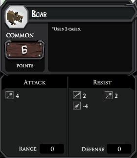Boar profile