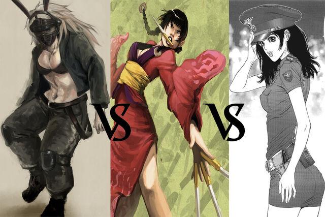 Nikaido vs. Rin vs. Umin