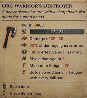 Orc Warrior's Destroyer