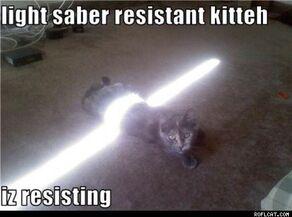 Thumb Light saber resistant kitteh iz resisting