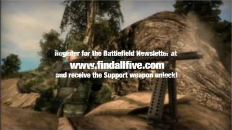 Battlefield Bad Company - Find All Five Support