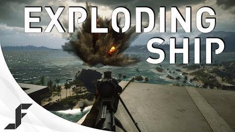 Exploding Ship! Battlefield 4 Hainan Resort Easter Egg!