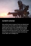 Avanti Savoia Description