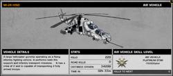 BFBC2 MI-24 Hind Stats