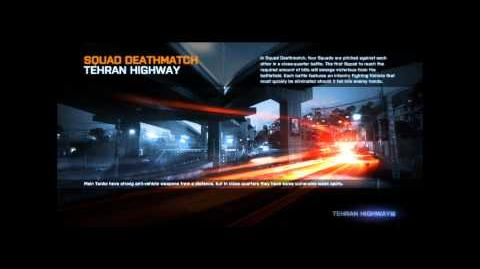 Battlefield 3 Tehran Highway Loading Screen